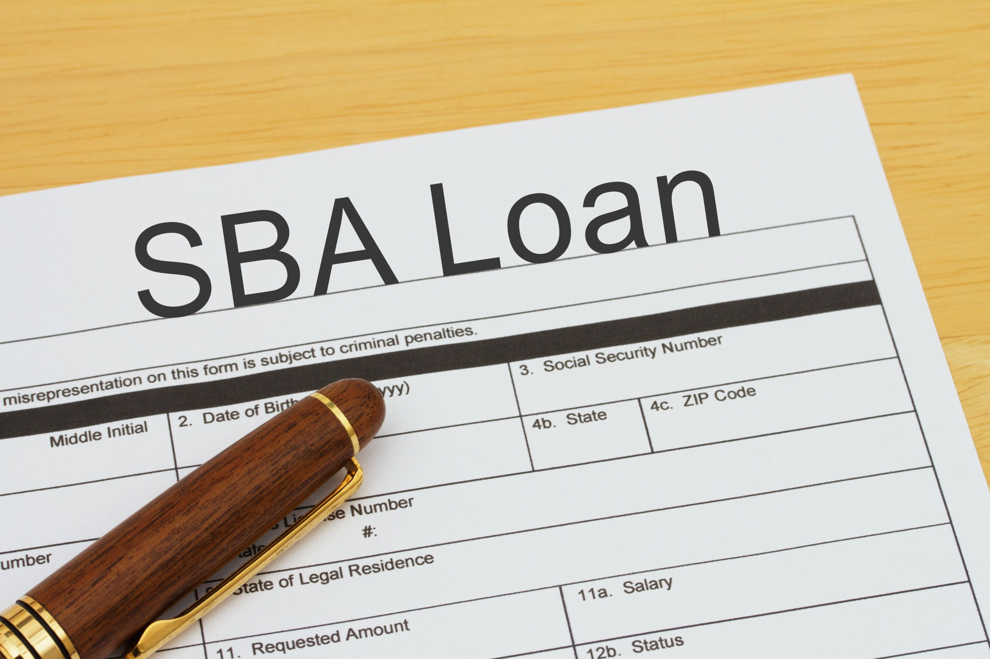 SBA Loan application