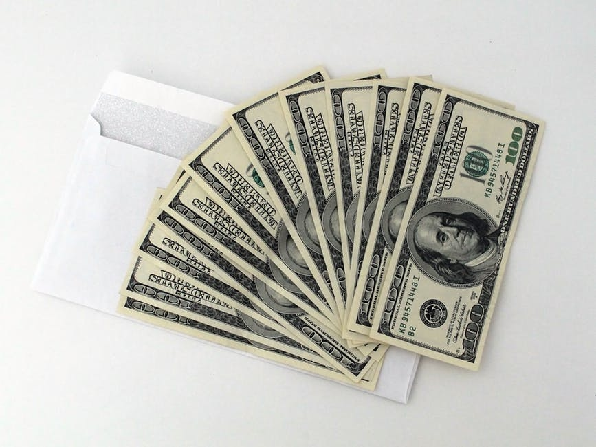 100 Dollar Bills From an Envelope