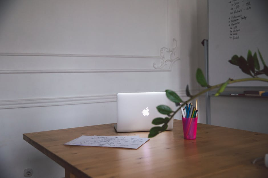 Macbook on a Table