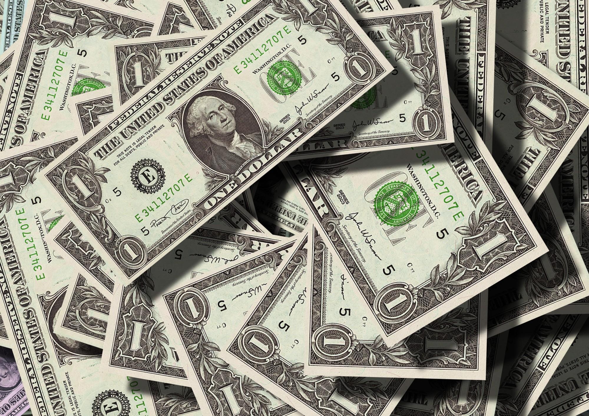 Stack of 1 Dollar Bills